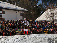 Schnöller beim Aufzug der Masken beim Nassereither Schellerlauf, Fasnacht in Nassereith, Bezirk Imst, Tirol, Österreich, Europa, immaterielles UNESCO Weltkulturerbe<br /> Schnöller at the gathering of the masks, Nassereither Schellerlauf-Fasnacht, Nassereith, Tyrol, Austria Europe, Intangible World Heritage