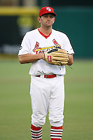 April 14, 2009:  Right Fielder Shane Peterson (16) of the Palm Beach Cardinals, Florida State League Class-A affiliate of the St. Louis Cardinals, during a game at Roger Dean Stadium in Jupiter, FL.  Photo by:  Mike Janes/Four Seam Images