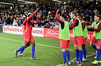 ORLANDO, FL - NOVEMBER 15: Gyasi Zardes #9 of the United States scores a goal and celebrates with his USMNT teammates during a game between Canada and USMNT at Exploria Stadium on November 15, 2019 in Orlando, Florida.