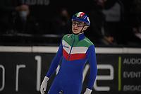 SPEEDSKATING: DORDRECHT: 06-03-2021, ISU World Short Track Speedskating Championships, QF 500m Men, Luca Spechenhauser (ITA), ©photo Martin de Jong