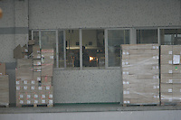 Boxes of light-bulbs at the Osram factory in Foshan city, Guangdong Province, China, 16th January 2008. Osram China Lighting Ltd make energy saving light bulbs that are sold in the UK.