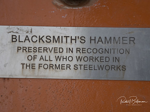 Blacksmith Hammer sign on Haulbowline island