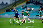 Ballyduff'd Michael Boyle clears his defence despite the attempted block from Cian Hussey of St Brendans in round 2 of the County Hurling Championship
