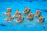 Artistic Swimming<br /> Team Free<br /> Final<br /> POL POLAND<br /> ALEKSAK Adrianna<br /> HERICH Dominika<br /> KALISZ Maja<br /> PAULINSKA Martyna<br /> RYBICKA Barbara<br /> SAHLI OUSINI Kamila<br /> SZCZEPANSKA Swietlana<br /> WOJCIK Martyna<br /> AMBROSZKIEWICZ Janina<br /> XXXV LEN European Aquatic Championships<br /> Duna Arena<br /> Budapest  - Hungary  11/5/2021<br /> Photo Pasquale Francesco Mesiano / Deepbluemedia / Insidefoto