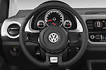 Car pictures of steering wheel view of a 2014 Volkswagen up! Cross up! 5 Door Hatchback 2WD Steering Wheel