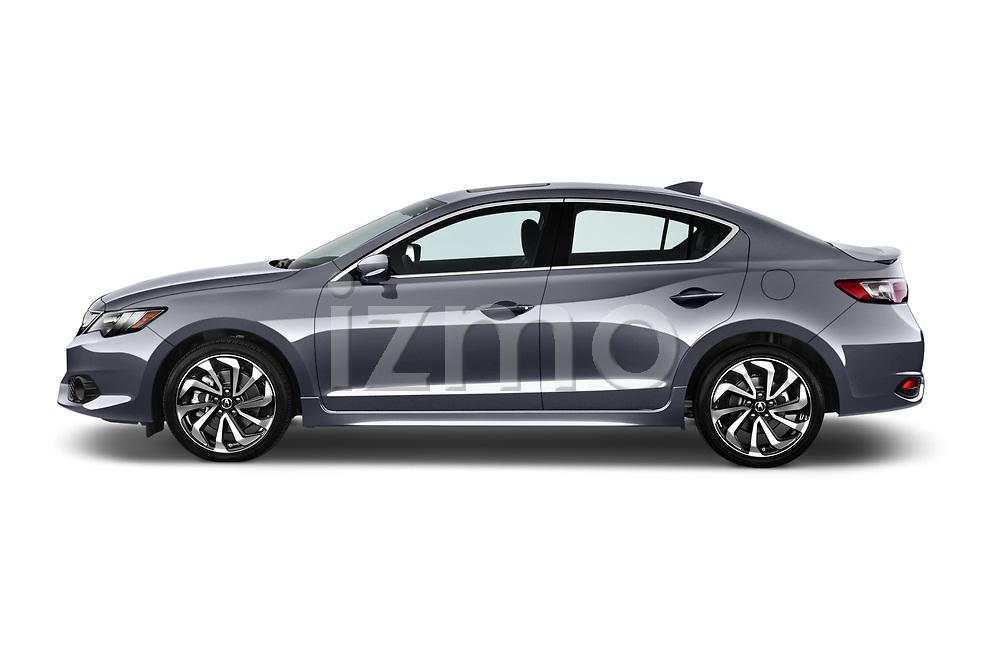 Car driver side profile view of a 2018 Acura ilx Tech Plus A Spec 4 Door Sedan