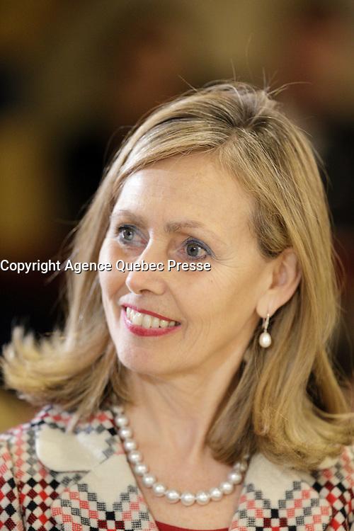 Monique Leroux  en 2106.<br /> <br /> PHOTO : Pierre Roussel -  Agence Quebec Presse
