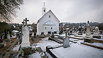 A rare late autumn snowfall covers the Sierra Foothill town of Jackson, Calif.<br /> <br /> Historic St. Sava Church and cemetery, snow