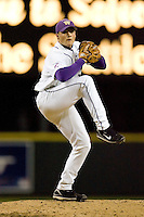 April 4, 2008: University of Washington junior Nick Haughian delivers a pitch against the University of Arizona at Safeco Field in Seattle, Washington.  Haughian threw a 2-hit complete game shutout and struck out 15 Arizona batters in the 2-0 win.
