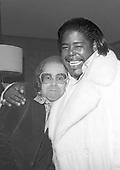 Elton John & Barry White, Narm Convention, Century Plaza Hotel, Los Angeles, CA  1975<br /> Photo Credit: James Fortune/AtlasIcons.com