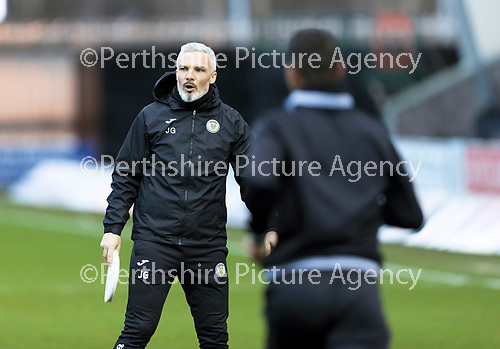 St Mirren v St Johnstone…19.12.20   St Mirren Park      SPFL<br />St Mirren manager Jim Goodwin pictured during the warm-up<br />Picture by Graeme Hart.<br />Copyright Perthshire Picture Agency<br />Tel: 01738 623350  Mobile: 07990 594431