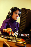 Journalist Thida broadcasts live via satellite to Burma. Democratic Voice of Burma is radio and TV station run by exiled Burmese. Opposing the government, the DVB has been transmitting, from the Norwegian capitol Oslo, into Burma since 1992.