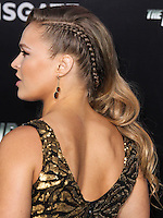 HOLLYWOOD, LOS ANGELES, CA, USA - AUGUST 11: Ronda Rousey at the Los Angeles Premiere Of Lionsgate Films' 'The Expendables 3' held at the TCL Chinese Theatre on August 11, 2014 in Hollywood, Los Angeles, California, United States. (Photo by Xavier Collin/Celebrity Monitor)