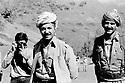 Iraq 1985   In liberated area, Lolan district, Masoud Barzani with Mulazzem Ali, chief of peshmergas<br />Irak 1985   Dans les zones libérées, region de Lolan, Masoud Barzani avec Mullazem Ali, chef de peshmergas