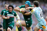 Graham Kitchener of Leicester Tigers scores a try during the Aviva Premiership Final between Leicester Tigers and Northampton Saints at Twickenham Stadium on Saturday 25th May 2013 (Photo by Rob Munro)