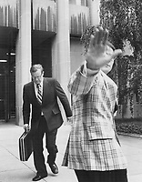 1975 File -<br /> <br /> The picture below was taken by Star photographer Bob Olsen in June, 1975, when Igor Gouzenko came out of hiding in Toronto to testify in a lawsuit. It was locked in a vault at The Star and brought out last night when the RCMP confirmed that lgor's days of hiding were over. <br /> <br /> Photo : Bob Olsen<br /> Toronto Star Archives via AQP