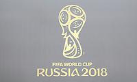 Logo der Weltmeisterschaft in Russland am VIP Eingang - 14.06.2018: Russland vs. Saudi Arabien, Eröffnungsspiel der WM2018, Luzhniki Stadium Moskau