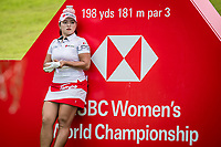 Ha Na Jang of Korea in act during day 4 of HSBC Women's World Championship 2018 at Sentosa Golf Club, Sentosa,, Singapore, on 4  March 2018, Singapore.  Photo by : Ike Li / Prezz Images