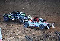 Dec. 11, 2011; Chandler, AZ, USA;  LOORRS pro lite driver Casey Currie (2) and Rodrigo Ampudia (36) during the Lucas Oil Challenge Cup at Firebird International Raceway. Mandatory Credit: Mark J. Rebilas-
