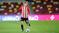 Mads Roerslev of Brentford in action during Brentford vs Birmingham City, Sky Bet EFL Championship Football at the Brentford Community Stadium on 6th April 2021