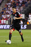 Branko Boskovic (8) of DC United. The New York Red Bulls defeated DC United 3-2 during a Major League Soccer (MLS) match at Red Bull Arena in Harrison, NJ, on June 24, 2012.