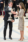 Sergio Scariolo and Queen Letizia attends to the National Sports Awards 2015 at El Pardo Palace in Madrid, Spain. January 23, 2017. (ALTERPHOTOS/BorjaB.Hojas)