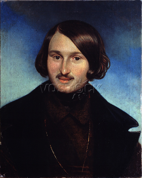 Portrait of the author Nikolai Gogol (1809-1852)<br /> Artist:Moller, Fyodor Antonovich(1812-1874)<br /> Museum:State Central Literary Museum, Moscow<br /> Method:Oil on canvas<br /> Created:1841<br /> School:Russia<br /> Trend in art:Russian Painting of 19th cen.