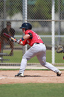 Boston Red Sox minor league second baseman Sean Coyle (16) during a game vs. the Minnesota Twins in an Instructional League game at Lee County Sports Complex in Fort Myers, Florida;  October 2, 2010.  Coyle was taken in the third round, 110th overall, of the 2010 MLB Draft.  Photo By Mike Janes/Four Seam Images