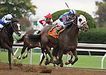 October 18, 2014: Elnaawi and jockey Julien Leparoux win the 8th race.  Candice Chavez/ESW/CSM