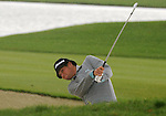 3 October 2008: Jeff Overton hits an approach shot during his second round 69 to remain in the lead at 8-under par at the Turning Stone Golf Championship in Verona, New York.