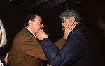ALBERTO SORDI CON ETTORE SCOLA <br /> FESTA PER L'OSCAR A GABRIELLA PESCUCCI - GILDA CLUB ROMA  1994
