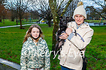Sarah McGrath with her mom Denise and Pepper the dog enjoying a walk in the Tralee town park on Friday.