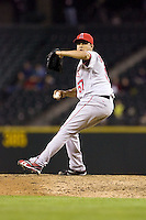 September 24, 2008:  Los Angeles Angels of Anaheim closer Francisco Rodriguez notches his 62nd save of the season against the Seattle Mariners at Safeco Field in Seattle, Washington.