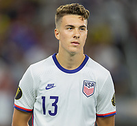 DALLAS, TX - JULY 25: Matthew Hoppe #13 of the United States during a game between Jamaica and USMNT at AT&T Stadium on July 25, 2021 in Dallas, Texas.