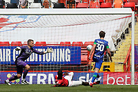 Kieran Dowell scores Wigan's second goal during Charlton Athletic vs Wigan Athletic, Sky Bet EFL Championship Football at The Valley on 18th July 2020