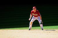 Apr. 11, 2010; Phoenix, AZ, USA; Arizona Diamondbacks shortstop Stephen Drew against the Pittsburgh Pirates at Chase Field. Mandatory Credit: Mark J. Rebilas-