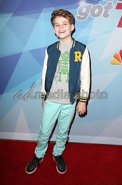 "12  September 2017 - Hollywood, California - Merrick Hanna. NBC ""America's Got Talent"" Season 12 Live Semi Final held at the Dolby Theatre. Photo Credit: F. Sadou/AdMedia"