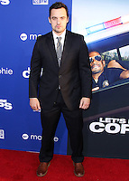 """HOLLYWOOD, LOS ANGELES, CA, USA - AUGUST 07: Jake Johnson at the Los Angeles Premiere Of 20th Century Fox's """"Let's Be Cops"""" held at ArcLight Cinemas Cinerama Dome on August 7, 2014 in Hollywood, Los Angeles, California, United States. (Photo by Xavier Collin/Celebrity Monitor)"""