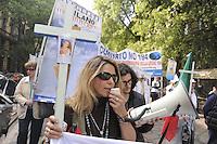 - Milano, manifestazione di cattolici oltranzisti contro la legge 194 sull'aborto<br /> <br /> - Milan, manifestation of catholics extremists against the law 194 on abortion