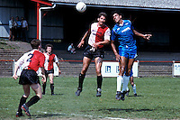 John Ray of Barking heads for goal during a 6-1 defeat at Hayes - 05/05/90 - MANDATORY CREDIT: Gavin Ellis/TGSPHOTO - Self billing applies where appropriate - Tel: 0845 094 6026