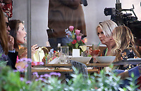 NEW YORK, NY - July 14: Kristin Davis, Sarah Jessica Parker,Cynthia Nixon, on the set of the HBOMax Sex And The City reboot series 'And Just Like That' in New York City on July 14, 2021. <br /> CAP/MPI/RW<br /> ©RW/MPI/Capital Pictures