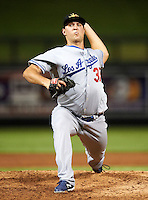Mesa Solar Sox pitcher Eric Eadington #37, of the Los Angeles Dodgers organization, during an Arizona Fall League game against the Salt River Rafters at Salt River Fields at Talking Stick on October 9, 2012 in Scottsdale, Arizona.  Salt River defeated Mesa 6-5.  (Mike Janes/Four Seam Images)