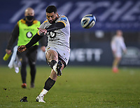 8th January 2021; Recreation Ground, Bath, Somerset, England; English Premiership Rugby, Bath versus Wasps; Lima Sopoaga of Wasps kicks a conversion