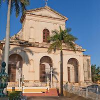 Cuba, Trinidad.  Church of the Holy Trinity, facing the Plaza Mayor.
