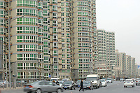 New Urban Housing in the suburbs of Beijing, China. Millions of people are moving to the suberbs of the cities from the countryside and also from city where where housing is expensive and conjestion, pollutionand commercial property developments  are forcing people to the suberbs..07 Mar 2008