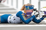 MARTELL-VAL MARTELLO, ITALY - FEBRUARY 02: ADOLFSSON Kim (SWE) during the Women 7.5 km Sprint at the IBU Cup Biathlon 6 on February 02, 2013 in Martell-Val Martello, Italy. (Photo by Dirk Markgraf)