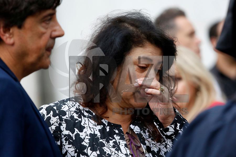 CURITIBA, PR, 28.02.2018 – JULGAMENTO – PR – A deputada federal Christiane Yared após ao fim do julgamento do ex-deputado estadual Carli Filho na tarde desta quarta-feira (28) no Tribunal do Júri em Curitiba (PR). (Foto: Paulo Lisboa/Brazil Photo Press)
