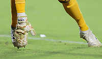 CARSON, CA - SEPTEMBER 21: The hand of Evan Bush #1 goalkeeper for the Montreal Impack during a game between Montreal Impact and Los Angeles Galaxy at Dignity Health Sports Park on September 21, 2019 in Carson, California.