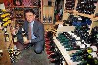 """- restaurant """"Il Sorriso"""", the owner in wine cellar....- ristorante """"Il Sorriso"""", il titolare in cantina"""