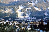Whistler Mountain, Whistler Resort, BC, British Columbia, Canada - Ski Runs and Village, Winter